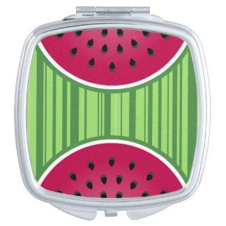 Watermelon Wedgies Travel Mirror