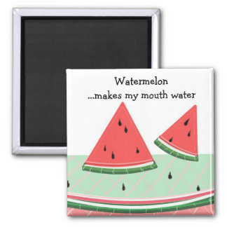 Watermelon with Saying Magnet