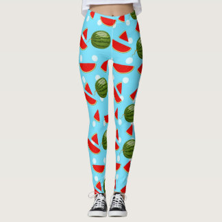 Watermelon With Slice Leggings