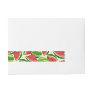 Watermelon Wraparound Address Label