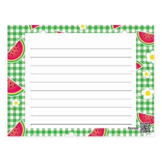 Watermelons and Daisies Recipe Card
