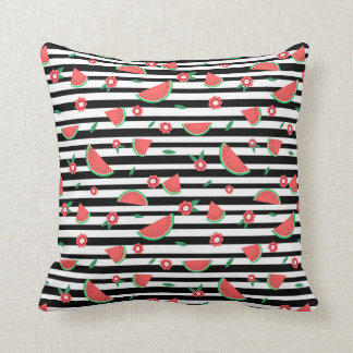 Watermelons and stripes cushion