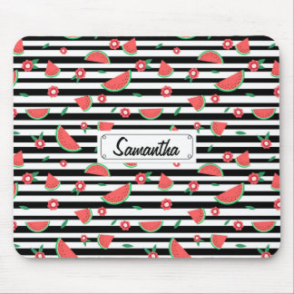 Watermelons and stripes mouse mat