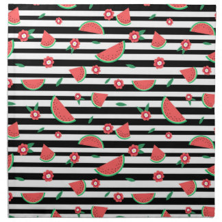 Watermelons and stripes napkin