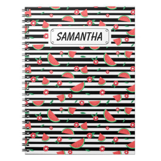 Watermelons and stripes notebooks
