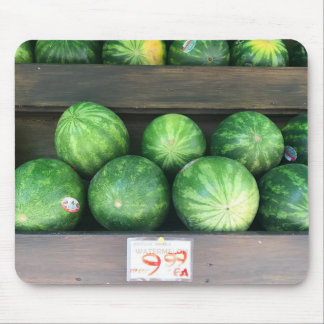 Watermelons for Sale Farmstand Market Melon Fruit Mouse Mat