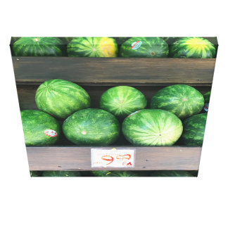 Watermelons for Sale, Fruit Stand, New York City Canvas Print
