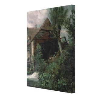 Watermill at Gillingham, Dorset Canvas Print