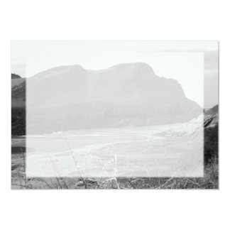 Watermouth, Devon, UK. Black and White. 13 Cm X 18 Cm Invitation Card