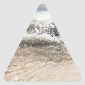 WaterOnRocks Triangle Sticker