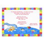 Waterpark Invitations: Boys
