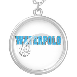 waterpolo logo personalized necklace