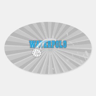 waterpolo logo oval sticker