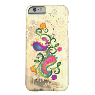 Waterproof Pastel Paisley Floral Barely There iPhone 6 Case