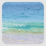 Water's edge 3 square stickers