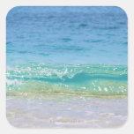 Water's edge 3 square stickers