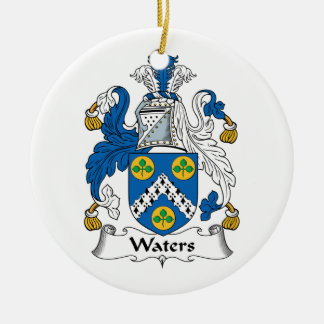 Waters Family Crest Christmas Ornament