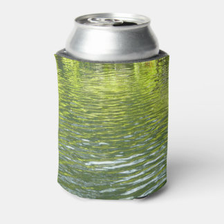 Waters of Oak Creek Yellow and Green Nature Photo Can Cooler