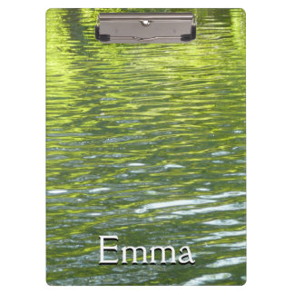 Waters of Oak Creek Yellow and Green Nature Photo Clipboard