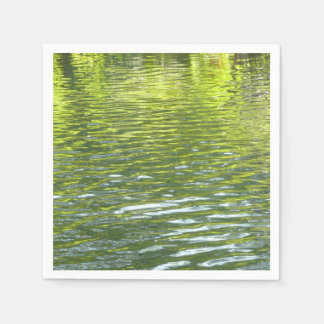 Waters of Oak Creek Yellow and Green Nature Photo Disposable Napkins