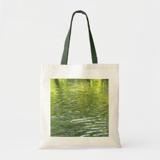 Waters of Oak Creek Yellow and Green Nature Photo Tote Bag