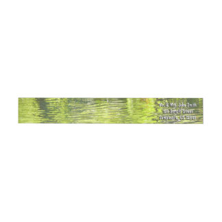 Waters of Oak Creek Yellow and Green Nature Photo Wrap Around Label