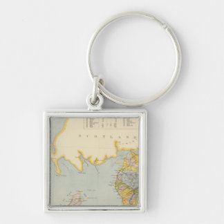 Watershed map England, Wales 1 Keychain