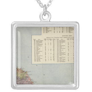 Watershed map England, Wales 2 Silver Plated Necklace