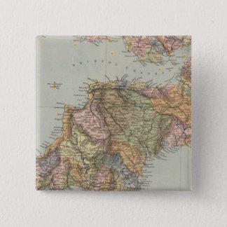 Watershed map England, Wales 5 15 Cm Square Badge