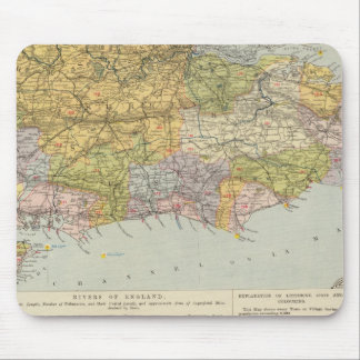 Watershed map England, Wales 6 Mouse Mat