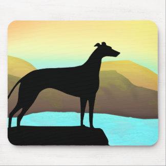 Waterside Greyhound Dog Landscape Mouse Mat