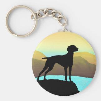 Waterside Vizsla t-shirts, apparel & gift Basic Round Button Key Ring