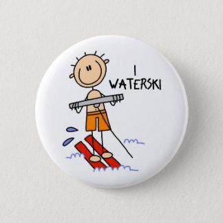 Waterski Gift 6 Cm Round Badge