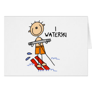 Waterski Gift Greeting Card