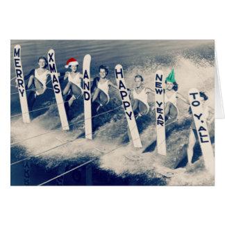 Waterskiiers bringing holiday cheer! card