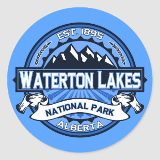 Waterton Lakes Logo Round Sticker