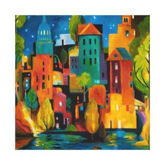 Watertown cityscape by Karen Gillis Taylor Canvas Print