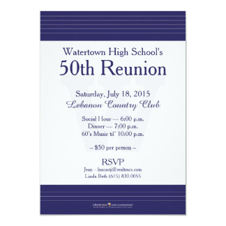 Watertown High School Class Reunion Invitations