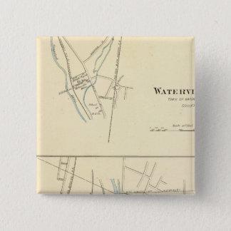 Waterville, S of Waterbury 15 Cm Square Badge