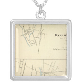 Waterville, S of Waterbury Silver Plated Necklace