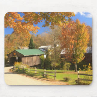 Waterville Vermont Covered Bridge and Village Mouse Pad