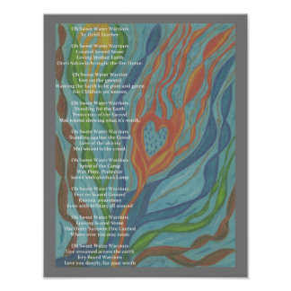 Waterwarrior's Poem and Drawing. Poster
