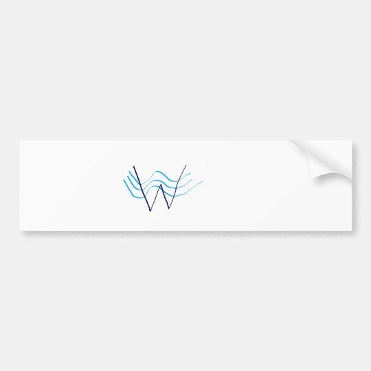 WaterWayByTheSea Tie Bumper Sticker