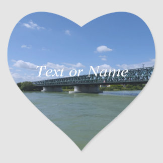 Waterways, Danube,Austria Heart Sticker