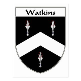 Watkins Coat of Arms/Family Crest Postcard