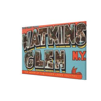 Watkins Glen, New York - Large Letter Scenes Canvas Print