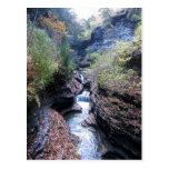 Watkins Glen Waterfall in Autumn Postcard