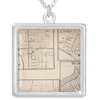 Watseka, Paris, Mt Sterling, Beardstown and Arcola Silver Plated Necklace