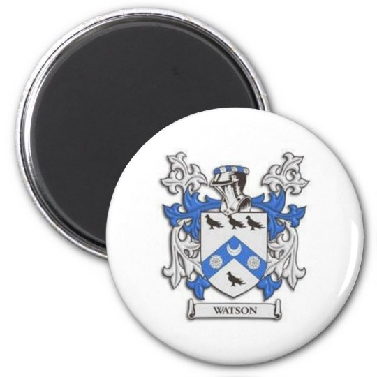 Watson Family Crest &  Reunion Products 6 Cm Round Magnet