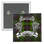 Watson Tartan Shield 15 Cm Square Badge